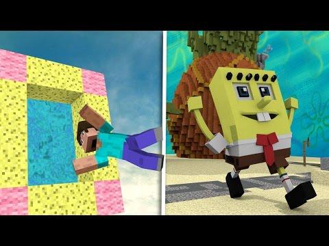 Minecraft Villains - HOW TO MAKE A PORTAL TO THE SPONGEBOB DIMENSION! (Bikini Bottom)
