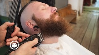 Hair And Beard Trim To Achieve Grunge Look | Cut And Grind