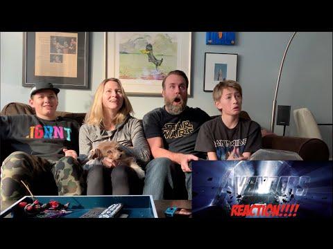 Marvel studios Endgame Official Trailer - REACTION (видео)