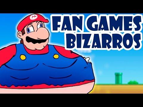 OS FAN GAMES MAIS BIZARROS DE SUPER MARIO!!!