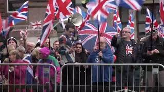 A wee group of Unionists shout drivel during #Indyref2020 Freedom (George) Square