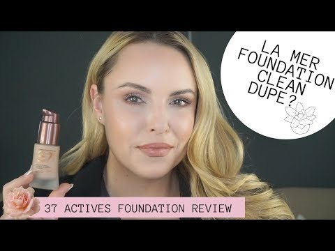 LA MER FOUNDATION DUPE THAT IS CLEAN? 37 ACTIVES FOUNDATION REVIEW    🌿🍁 Natural November