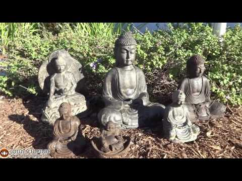 Small Meditating Japanese Garden Buddha 5.5