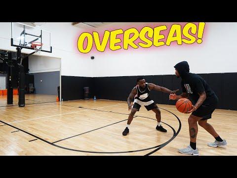 1v1 Basketball Against Hooper Hooper From Overseas!