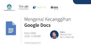 """Topik ini akan mengajarkan bagaimana membuat atau mengimpor, mengedit dan memformat, berrbagi dan berkolaborasi. Juga bagaimana mencetak dan mengunduh, mengakses kalender, catatan dan tugas pada Google Docs. Pembicara : Indra Indonesia Edu Webinars merupakan rangkaian pelatihan online secara gratis bagi para pendidik di seluruh Indonesia. Pelatihan ini bertujuan untuk mengajarkan keahlian digital dasar dalam menavigasi […]"