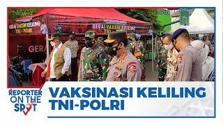 Kapolri, Panglima dan Kepala BNPB Tinjau Vaksin Keliling TNI-Polri di SDN Duri Pulo, Jakarta Pusat