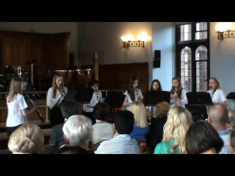 Bolton School Senior Girls' Clarinet Choir Perform Fur Elise