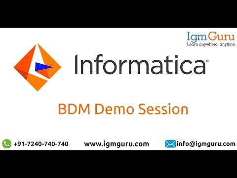 Informatica BDM Tutorial | Informatica BDM Training | Online ...