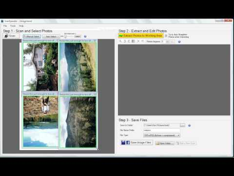 Scan Multiple Photos at Once - Custom Selection (Old Interface)
