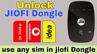 how to unlock jiofi device   how to use any 4G sim in jiofi   Unlock Any WiFi Router Hotspot Dongle