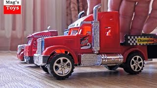 Car Trailers for Kids | Lots of Toy Cars Transported by Trucks | Video for Children