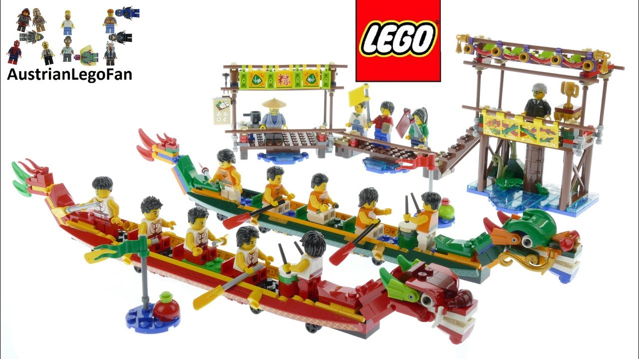 Lego Chinese New Year 80103 Dragon Boat Race Speed Build