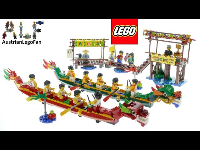 Lego Chinese New Year 80103 Dragon Boat Race - Lego Speed Build Review