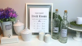DOLLAR TREE FRENCH COUNTRY FARMHOUSE DIYs   CHIC ON THE CHEAP