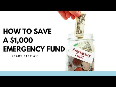 How to Save a $1,000 Emergency Fund (Baby Step #1)