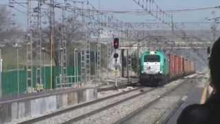 preview picture of video 'TECO Transitia Rail Abroñigal - Valencia FSL y MD Jaén - Madrid por Pinto'