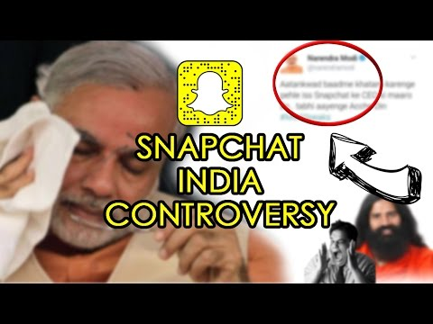 Narendra Modi's Deleted Tweet About SNAPCHAT INDIA CONTROVERSY
