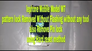 lephone w7 hard reset - मुफ्त ऑनलाइन वीडियो
