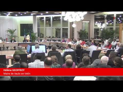 Vaulx-en-Velin – Conseil Municipal du jeudi 9 octobre 2014