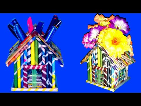 Newspaper Penstand/Flower Vase◆Unique Design Paper Craft◆Recycled Wast Material◆Easy Newspaper Craft