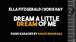 Dream A Little Dream of Me - Doris Day / Ella Fitzgerald (Piano Karaoke Backing Track With Lyrics)