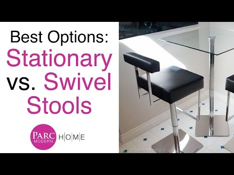 Stationary vs. Swivel Stool Furniture Review | Parc Modern