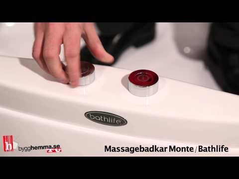 Bubbelbadkar Bathlife Monte 6080