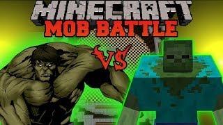 MUTANT ZOMBIE VS HULK - Minecraft Mod Battle - Mob Battles - Superheroes and Mutant Creatures Mods