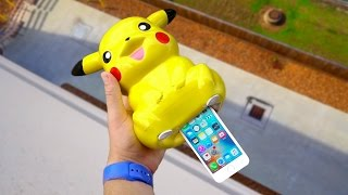 Can iPhone SE Survive a 100 FT Drop Shoved up a Pikachu's Buttocks?