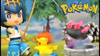 スイレン  - (ポケットモンスター) - Pokemon StopMotion anime!「Popplio Rescue operation」スイレンのアシマリ救出大作戦!