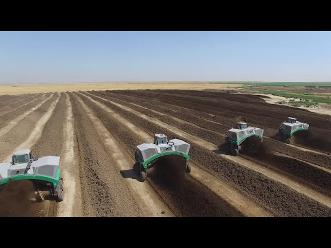 Komptech Topturn X63 Compost Windrow Turners In Operation