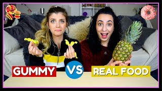 Gummy vs Real Food #3 || fraoules22