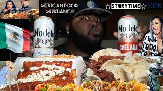 ☆Mexican Food Mukbang☆Collab with Bittersweet Rose Mukbang!(StoryTime)[Eating Show]