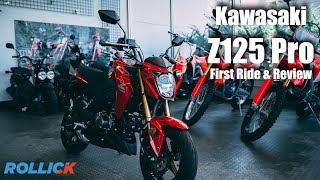 KAWASAKI Z125 PRO Test Ride Review [Top Speed]