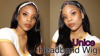 Unice Amazon  Hair Headband Wig Review| Lazy Girl friendly | NO LACE, NO GLUE