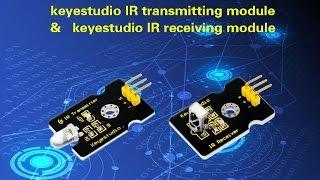 ks0026 & 27 keyestudio IR transmitting and IR receiving modules