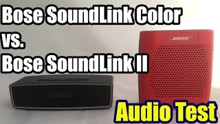Bose SoundLink Mini II vs Bose SoundLink Color - Audio Test & Review