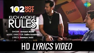 Kuch Anokhe Rules | Lyrical | 102 Not Out | Armaan Malik