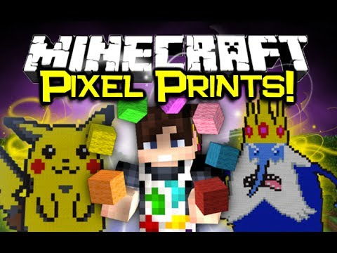 Minecraft Video Minecraft Pixel Printer Mod Spotlight 3d