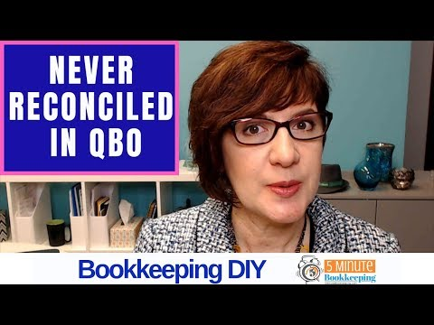 Reconciling a bank account that has never been reconciled in QuickBooks Online