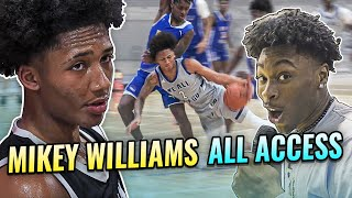 Mikey Williams AAU Tournament Behind The Scenes! JuztJosh REACTS To Mikey vs Thompson Bros