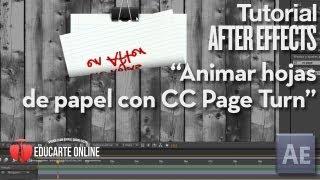 Animar hojas de papel - Tutorial After Effects