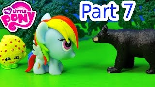 MLP Fash'ems Rainbow Dash Shopkins Wild BEAR ROAD TRIP RV Camper My Little Pony Video Part 7
