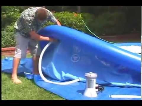 Video montaza Bazena Intex 366x76cm sa pumpom easy pool
