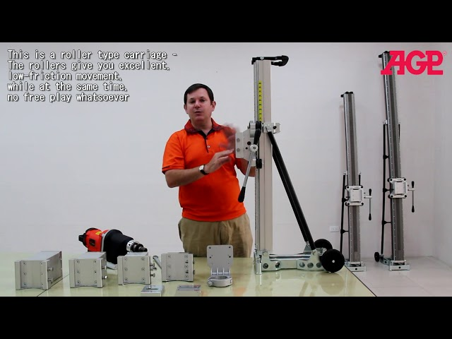 AGP S800 Diamond Core Drill Stand – Introduction & Operation