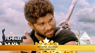 Allu Arjun Wins Best Actor In Supporting Role for Rudhramadevi at 63rd Filmfare Awards South 2016