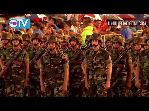 Comandante Daniel encabeza desfile militar del Ejército de Nicaragua