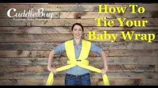 How To Tie A Baby Wrap Carrier/ Sling Carrier - CuddleBug Instructions