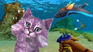 ПОДВОДНЫЙ МИР в КОСМОСЕ SUBNAUTICA кошачья рыбалка от Ланы