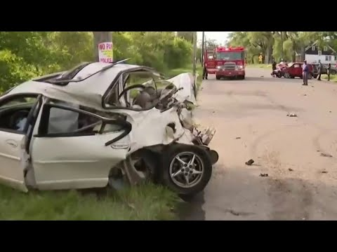 Street racing leads to violent crash on Detroit's west side
